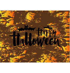 happy halloween banner greeting card invitation vector image