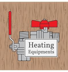 Heating equipments badge Ball valve vector