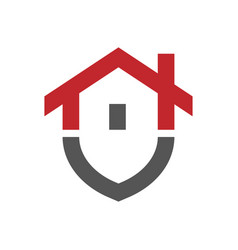 home protection logo design template vector image