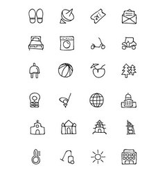 Hotel and Restaurant Doodle Icons 6 vector image