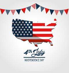 Independence day usa flag celebration vector