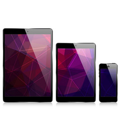 ipad iphone triangular abstract background vector image