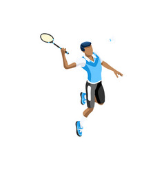 Isolated badminton boy vector