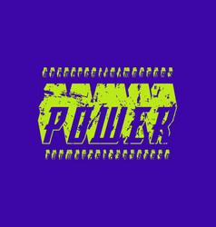 Italic bulk serif font in the sport style vector