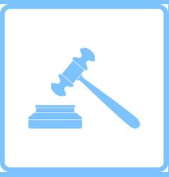 judge hammer icon vector image