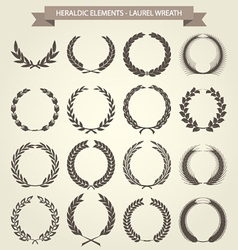 Laurel Wreaths set in different style vector