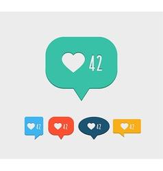 Like notification social media icon vector image