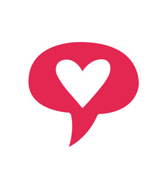 like social network icon in heart shape on white vector image