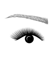Logo eyelash extension a beautiful make-up vector