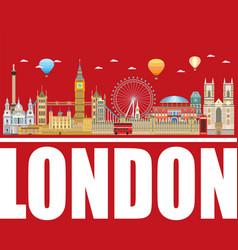 london skyline 18 vector image