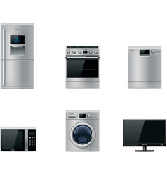 major appliances set vector image