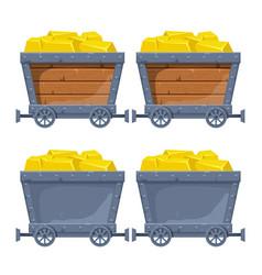 Mine cart vector
