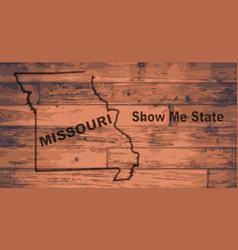Missouri map brand vector