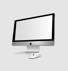 Monitor and pc mouse vector