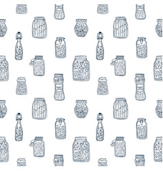 Monochrome seamless pattern with pickled vector