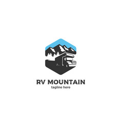 mountain recreation vehicle logo vector image