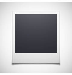 Photo frame isolated on white background vector