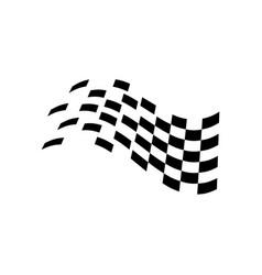 race flag icon symbol simple design checkered vector image