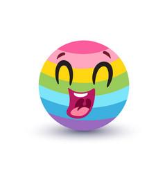 rainbow emoji vector image