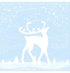 reindeer in forest vector image