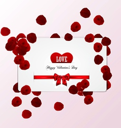 rose petals card vector image