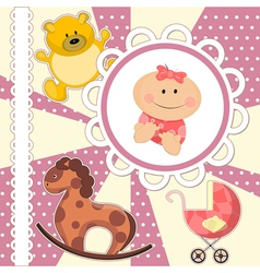 scrapbooking card for bagirl vector image