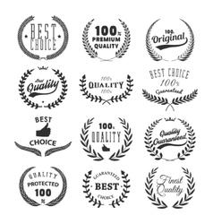 set quality emblems best choice vector image