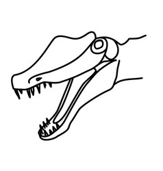 spinosaurus icon doodle hand drawn or black vector image