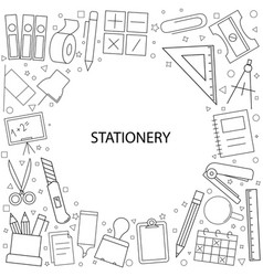 Stationery pattern vector