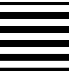 Striped seamless pattern black white wide vector
