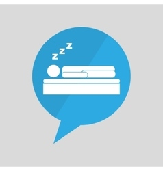 symbol sleeps dreams design vector image