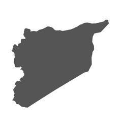 syria map black icon on white background vector image