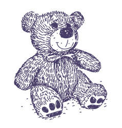 teddy bear drawing vector image