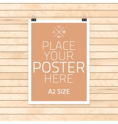 template of frame with poster placed in vector image