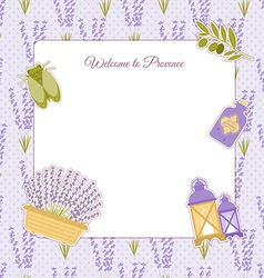 Template photo frames in the style of Provence vector
