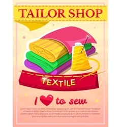 Textile industry design vector image