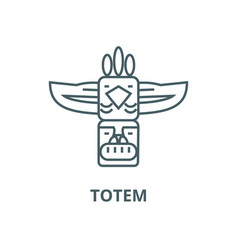 totemnative american line icon linear vector image