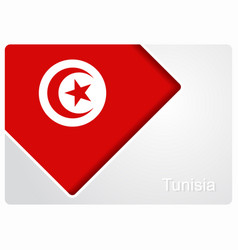 Tunisian flag design background vector