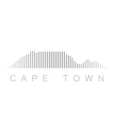 Vertical bars cape town landmark skyline vector