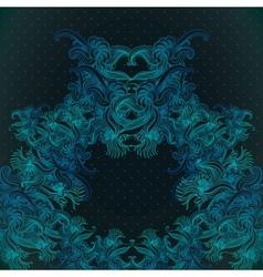 Vintage background baroque pattern vector image
