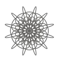 vintage flower decorative element coloring book vector image
