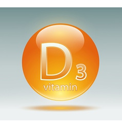 vitamin D3 vector image