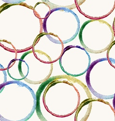 Watercolor circle stain pattern vector image
