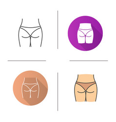 womans buttocks icon vector image