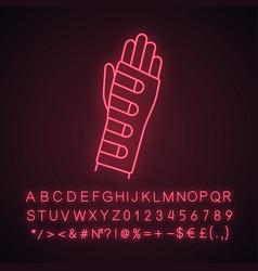 wrist brace neon light icon vector image