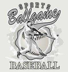 ball game baseball vector image vector image