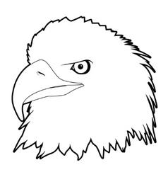 drawn eagle head vector image vector image