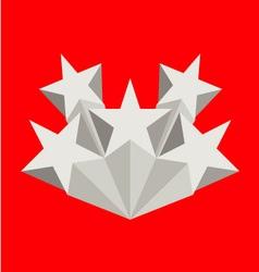 Five silver stars vector image