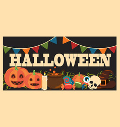 halloween promotional poster vector image