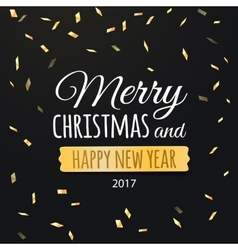 Happy New Year 2017 Merry Christmas greeting card vector image vector image